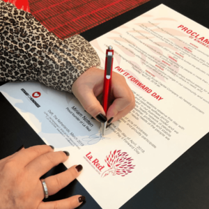 Signing Pay it Forward Day Proclamation