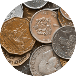Netwerkend werken werkt voor een munten verzameling