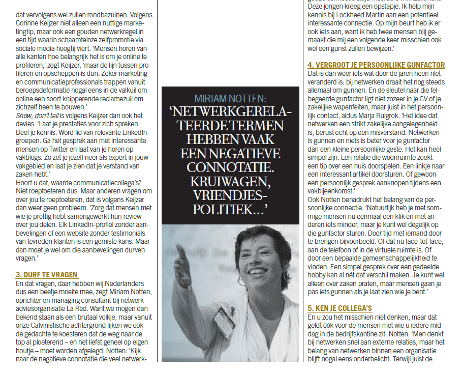 Miriam Notten in Communicatie Magazine